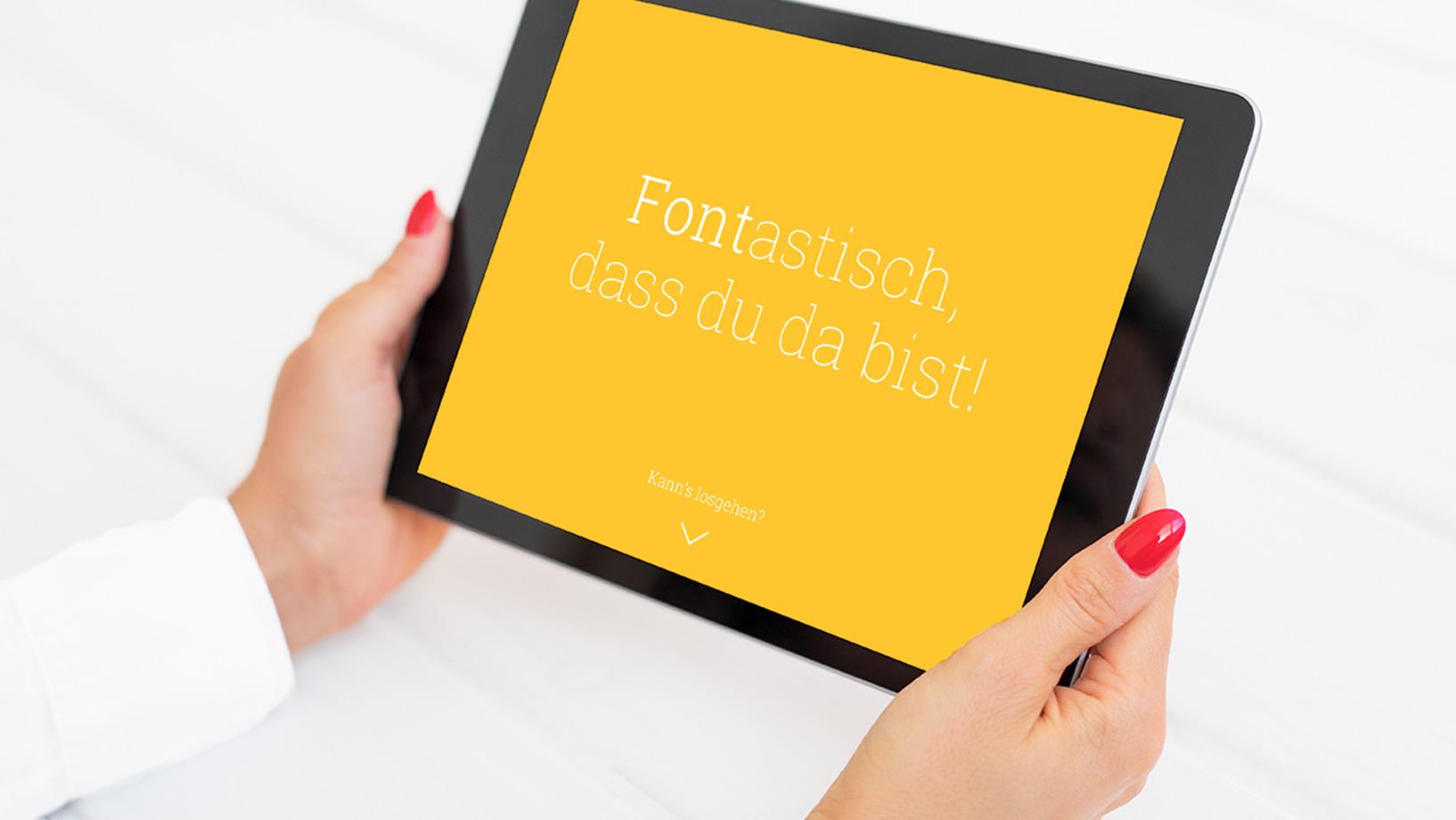 App Design – Roboto Slab